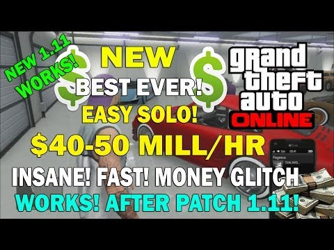 GTA 5 Online- NEW BEST EVER! $40-50 MILLION/HR MONEY GLITCH INSANE! (After Patch 1.11)