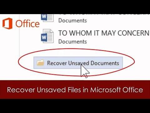 how to recover excel file not saved 2013