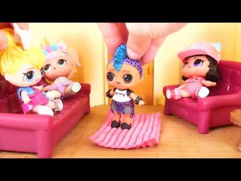 JOJO Siwa Unicorn LOL Surprise Doll Ambulance Visit Hospital + Doctor Pharaoh Punk, Peppa Pig Toy (видео)