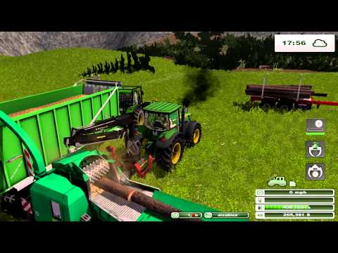 Farming Simulator 2013 Forest Mod and Forest map pt 4