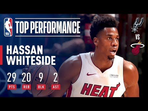 Video: Hassan Whiteside With A Monster Performance! 29 Pts 20 Rebs 9 Blks! | November 7, 2018