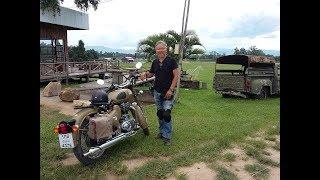 7. ROYAL ENFIELD Classic desert storm engine warming at farm cowboy, Chiangmai