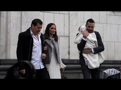 Aleksandra Prijović i Filip krstili sina - video snimci