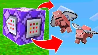 MAKE PIGS FLY in Minecraft Pocket Edition with COMMAND BLOCKS!