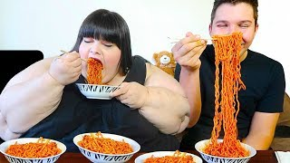 Video Extreme Spicy Noodle Challenge With Hungry Fat Chick MP3, 3GP, MP4, WEBM, AVI, FLV Oktober 2017