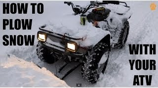 5. How to Plow Snow With Your ATV - Country Cycles ATV Plow In Action - Arctic Cat 500