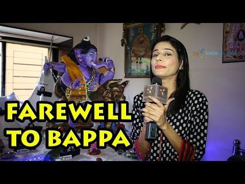Aneri Vajani's farewell to Bappa