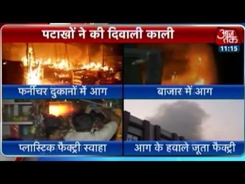 Fire mishaps on Diwali night 24 October 2014 12 PM