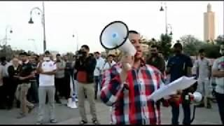 بالصوت والصورة :وقفة التضامن ببنجرير مع معتقلي الفايسبوك