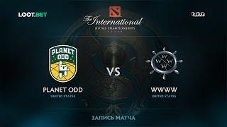 Planet Odd vs WWWW, The International 2017 NA Qualifier