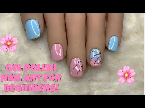Gel nails - Easy Gel Polish Nail Art  Cherry Blossom   Madam Glam