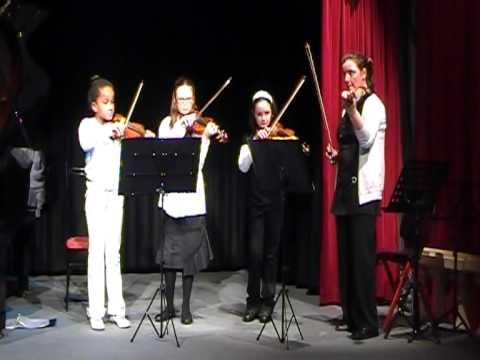 Audrina, Juliette, Camille et Valou - 20-03-10 - violon - Snow (видео)