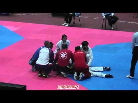 80kg Semifinal Kirill KEMALETDINOV (RUS) vs (SVK) ANGYAL, Adrian (6th -21 ETU TKD Champ. 2015) (видео)