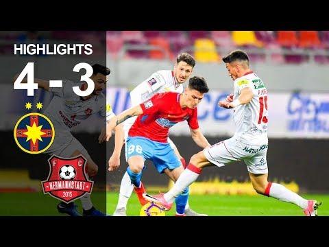 FCSB - FC Hermannstadt 4-3 I 7 goluri, o duzina de ocazii si un Florinel Coman de senzatie