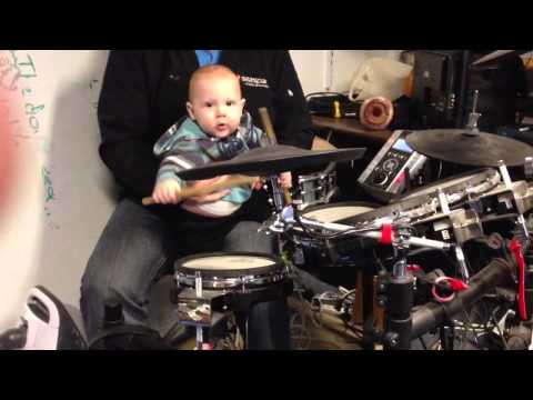 NelsonsMusic1 - This is our 10 month old grandson. We just put a drum stick in his hand to see what would happen. He immediately knew what to do!