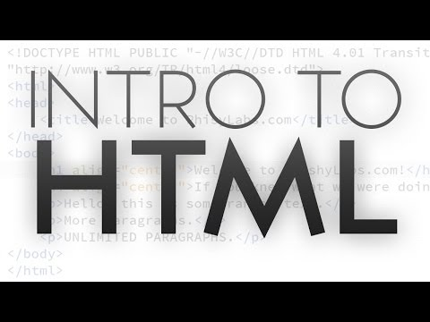 Intro to HTML | Getting Started