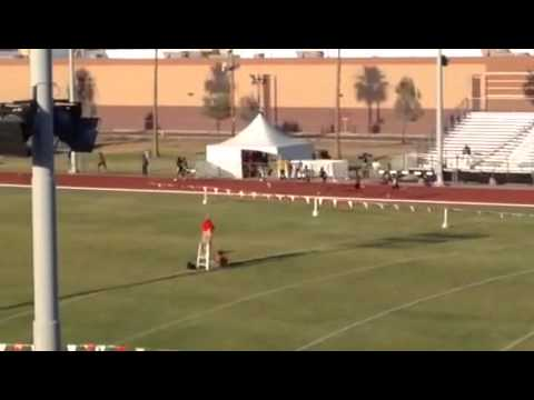Alfred Larry's national championship 400 meter run