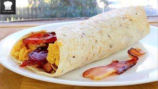 Breakfast Wrap - Burrito - YouTube