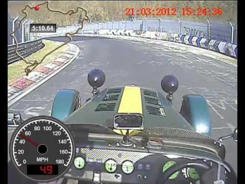 DN5 Nurburgring VLN Circuit Caterham Superlight Farl on board (видео)