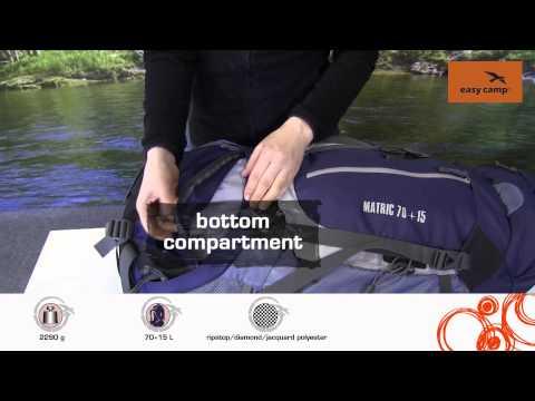 Відеоогляд туристичного рюкзака Easy Camp Matric 70+15