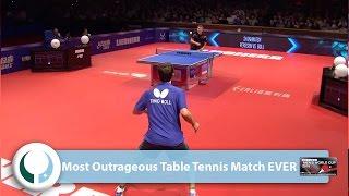 Video Most Outrageous Table Tennis Match EVER MP3, 3GP, MP4, WEBM, AVI, FLV Oktober 2018