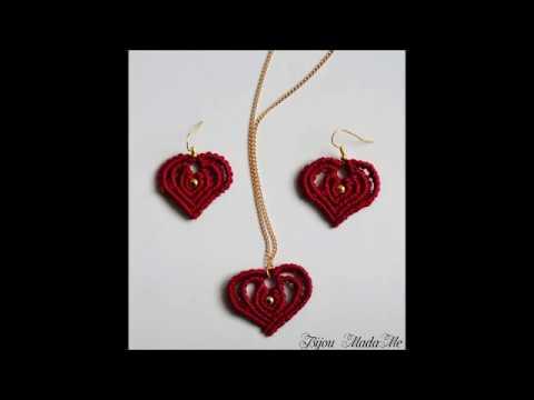macramè - bijou a forma di cuore