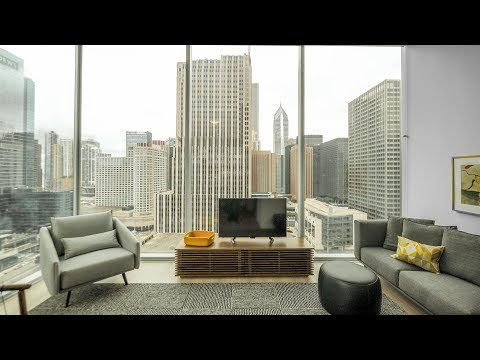A 2-bedroom, 2-bath model at Streeterville's new Optima Signature apartments