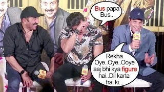 Video Bobby Deol Gets EMBARRASSED Of Dharmendra Talking DIRTY About Rekha In Front Of Media @YPD 3 Trailer MP3, 3GP, MP4, WEBM, AVI, FLV Agustus 2018
