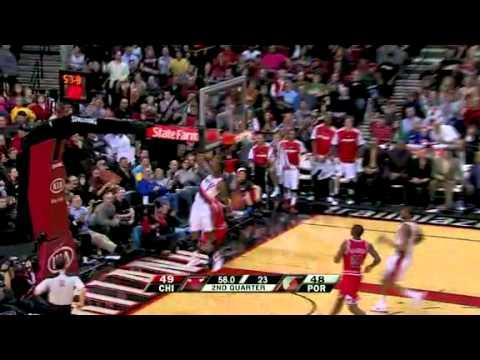 Rudy Fernandez to Wesley Matthews against Bulls
