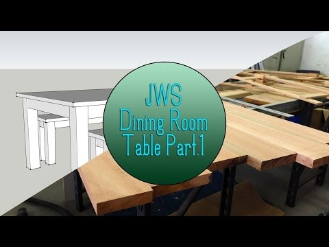 dining - For the first project of 2014 on JordsWoodShop we will be making a simple yet beautiful dining room table with matching bench seats. In this video I we begin...