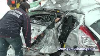 Gümüşhanede trafik kazası