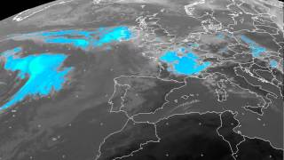 Europe percipation/clouds timelapse 08-05-2015