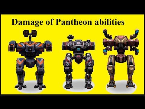 Comparison the damage of Pantheon robots abilities Ares Hades Nemesis war robots