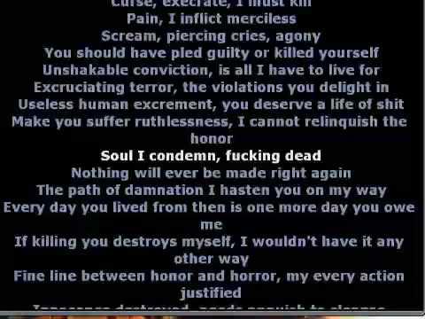 Dying Fetus Homicidal Retribution with lyrics