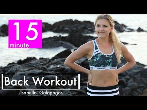 15분동안 등,어깨 라인을 이쁘게 만들어주는 운동 - 레베카 루이즈