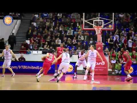 Lokomotiv-Kuban - Lietuvos Rytas Highlights. 20.10.2013 (видео)