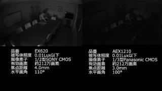 0.01Lux未満 屋内 白黒