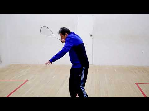 Squash tips: Holding the ball using your wrist - Dave Pearson