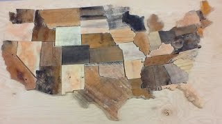 Another quick little video showing how to build a puzzle using the scroll saw. This one happens to be a map of the USA that I built using left over scraps of pallet wood. Hope you enjoy the video!