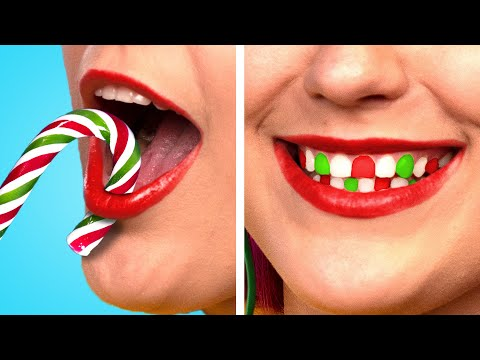 How to SNEAK SNACKS into a CHRISTMAS PARTY! Food Sneaking Ideas & Funny Situations by Crafty Panda