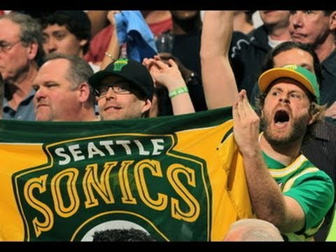 sonicsgate - http://sonicsgate.org | The creators of Sonicsgate scored prime seats to the Denver vs. OKC playoff game 3, showing the nation that Sonics fans are still her...