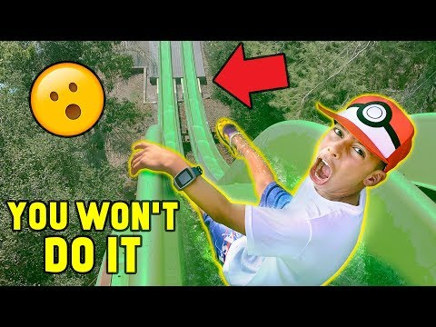 """""""YOU WON'T DO IT"""" WATERPARK CHALLENGE!! (Win $1000)   The Royalty Family"""