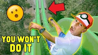 """Video """"YOU WON'T DO IT"""" WATERPARK CHALLENGE!! (Win $1000) 