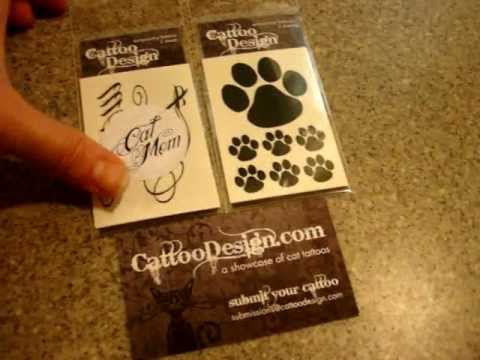 0 Temporary Cat Tattoos from Cattoo Design   Paw Print Temporary Tattoo and Cat Mom Temporary Tattoo