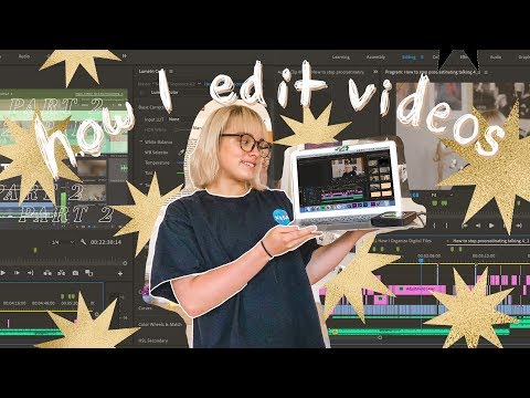 How I EDIT YouTube videos | animations, VHS effects, color grading, etc. 🖥️