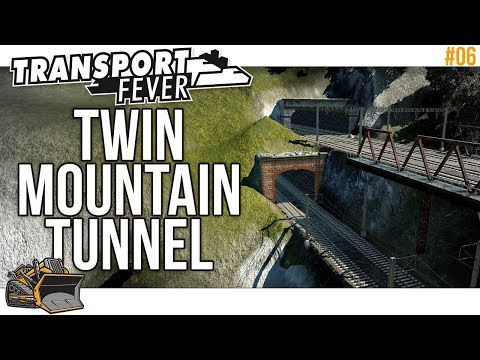 Building Twin Mountain Tunnels | Transport Fever Mainline #6