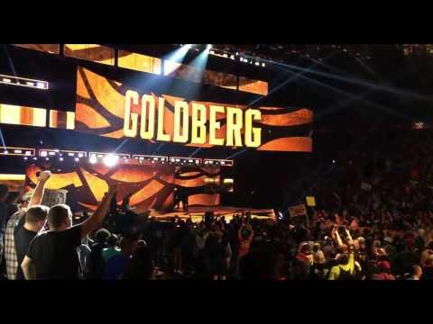 Goldberg Returns On WWE Monday Night Raw 10-17-16