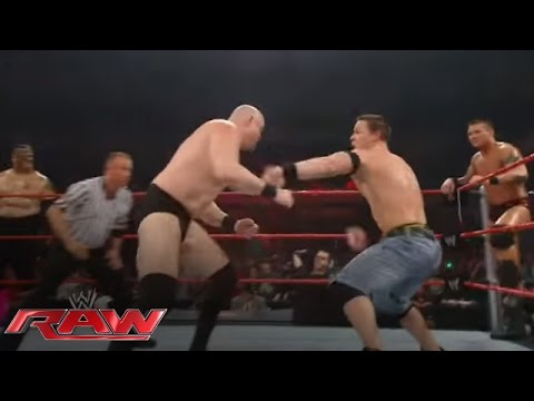raw - Triple H forces John Cena & Randy Orton to put their differences aside in a match against 15+ Superstars from the Raw roster. More WWE - http://www.wwe.com/