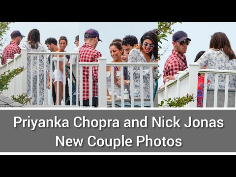 Nick Jonas and Priyanka Chopra with Nick's family.