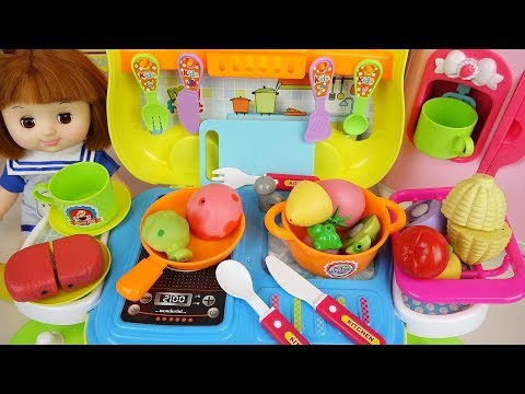 Baby Doll Food Car Kitchen Cooking Play Baby Doli
